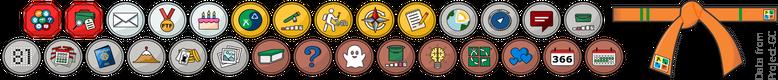 Moje odznaki geocachingowe