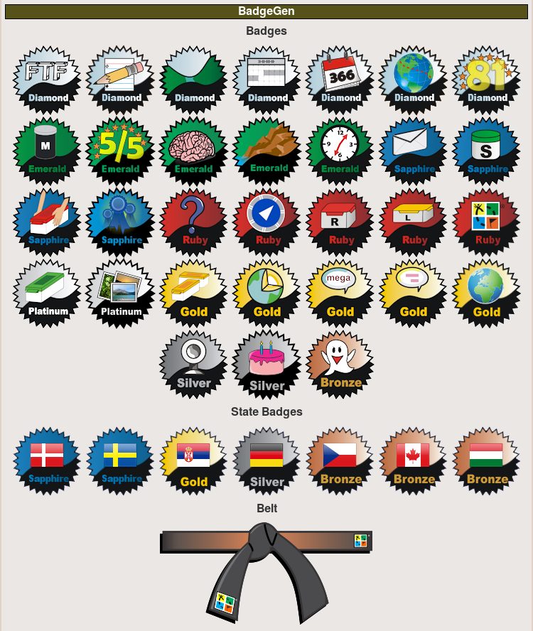 Examples of Geocaching Badges