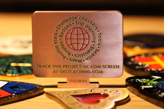 Project-GC Geocoin Copper Back