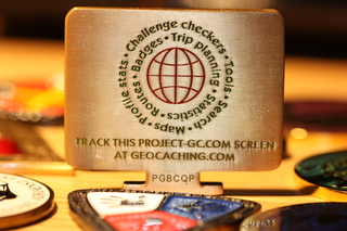 Project-GC Geocoin Gold Back