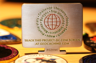 Project-GC Geocoin Silver Back